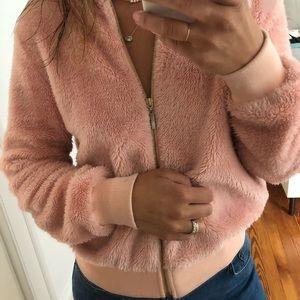 LF Pink Fuzzy Bomber